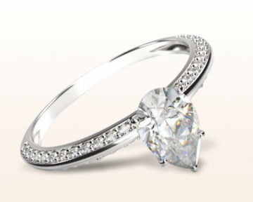 pear shaped or teardrop engagement rings duet pave
