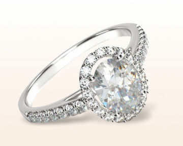 Oval engagement rings Cathedral Halo Diamond