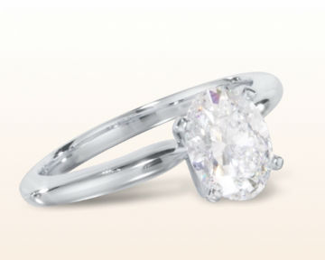 oval engagement rings Classic Four Prong Diamond