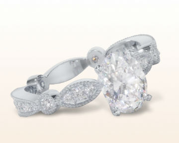 oval engagement rings Four Points Diamond