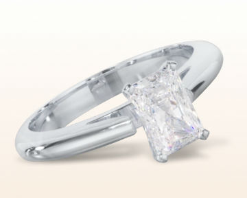 radiant cut engagement rings Tapered Cathedral Solitaire Diamond
