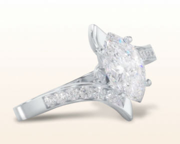 marquise cut engagement rings Tapered Diamond