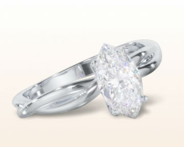 marquise cut engagement rings Twisting Solitaire Diamond