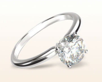 dainty engagement rings Classic Four Prong Solitaire Diamond