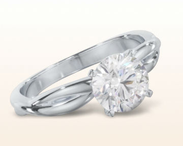 dainty engagement rings Twisting Solitaire Diamond