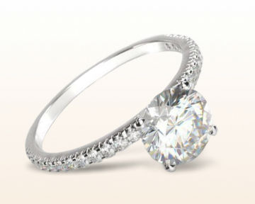 traditional engagement rings French Cut Pave Diamond