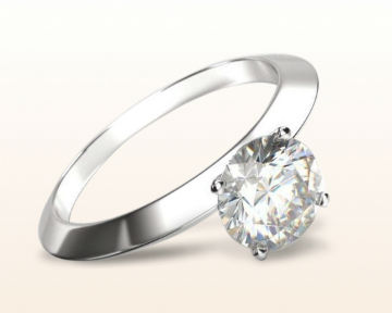 traditional engagement rings Knife Edge Solitaire Diamond