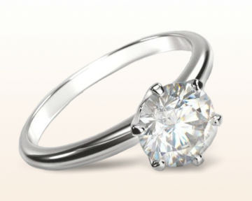 traditional engagement rings Luminous Six Prong Solitaire Diamond