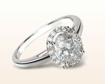 traditional engagement rings oval plain shank halo