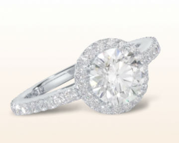 traditional engagement rings Pave Diamond Halo