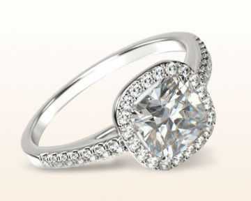 square halo engagement rings Cushion Cathedral Diamond