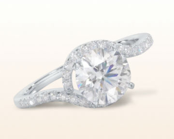 square halo engagement rings Tapered Diamond