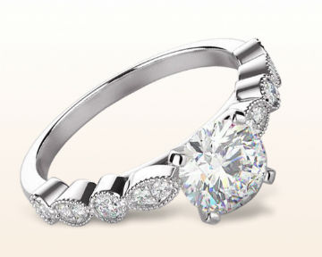 unusual engagement rings four points