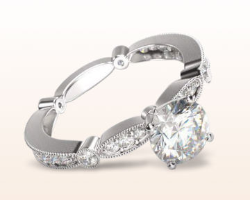 Antique Style Engagement Rings Four Points Diamond