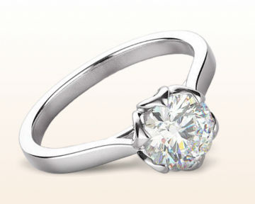 Nature Inspired Engagement Rings lily diamond