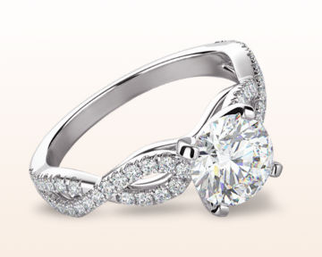 Infinity Engagement Rings Braided Cathedral Diamond Engagement Ring