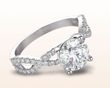 Infinity Engagement Rings Forever Twisting Diamond Engagement Ring