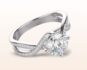 Infinity Engagement Rings twisting east west diamond