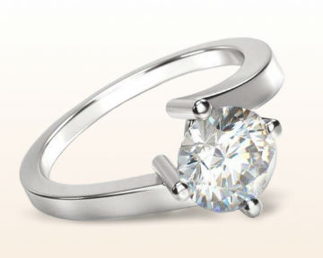 minimalist engagement rings East West Twist Solitaire