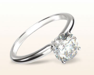 minimalist engagement rings Classic Four Prong Solitaire