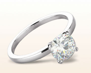 minimalist engagement rings Petite Solitaire Diamond