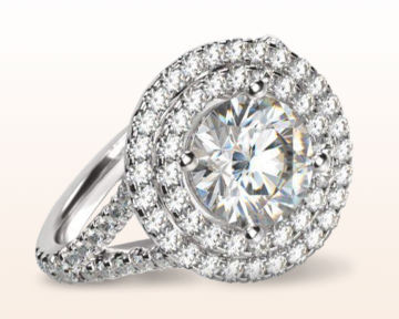 big engagement rings Double Floating Halo Cathedral Diamond