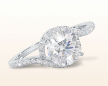 cute engagement rings Tapered Halo Diamond