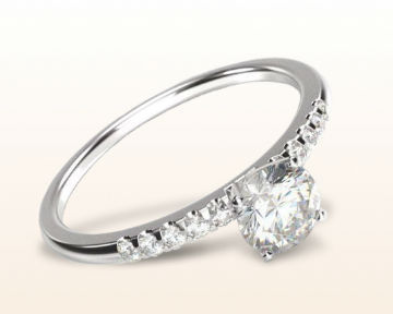 cute engagement rings Traditional Pave Diamond
