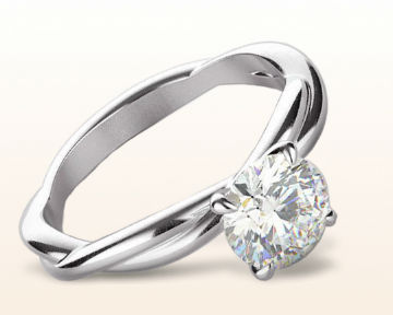 cute engagement rings Twiriling Solitaire Diamond