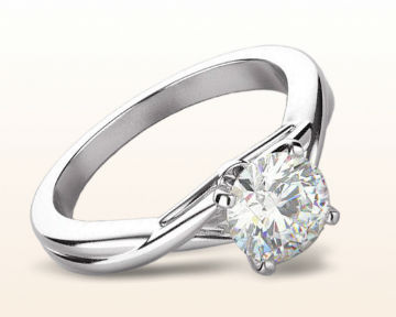 modern engagement rings Cathedral Twist Diamond