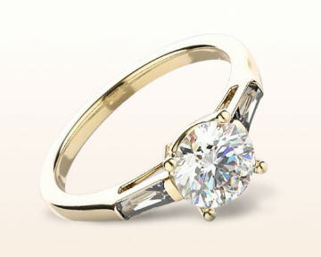 three stone engagement rings elegance baguette