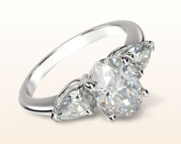 three stone engagement rings pear