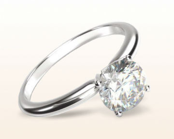 thin band engagement rings Classic Four Prong