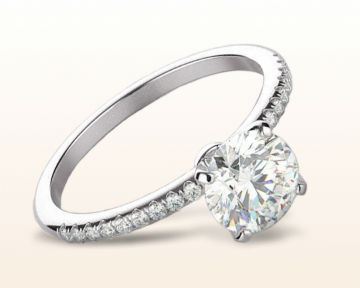 thin band engagement rings micropave diamond