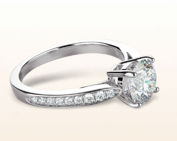pretty engagement rings charm tapering diamond