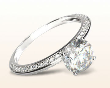 pretty engagement rings Duet Pave Diamond