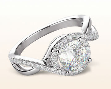 pretty engagement rings Open Twisting Diamond