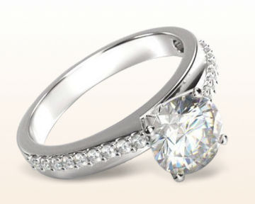 pretty engagement rings Rising Accents Diamond