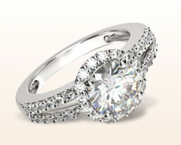 pretty engagement rings Split Shank Trellis Diamond