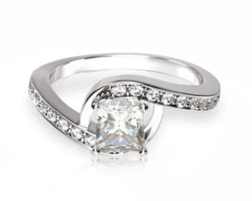 Rising Accents Diamond Engagement Ring