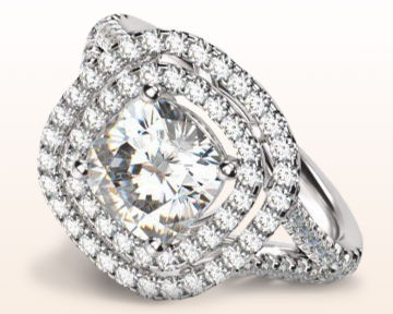 round halo engagement rings double cathedral