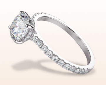 round halo engagement rings hidden floating diamond