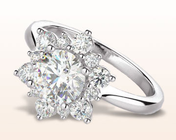 round halo engagement rings star