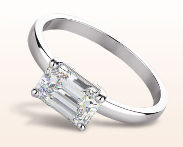 east west engagement rings classic four prong