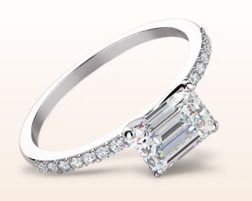 east west engagement rings pave diamond