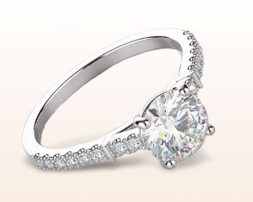 pave engagement rings chic accent