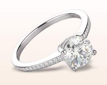 pave engagement rings underhalo classic diamond