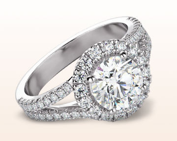 split shank halo engagement rings french