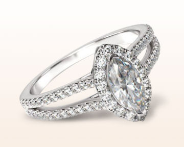 split shank halo engagement rings marquise