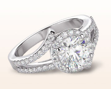 split shank halo engagement rings opening twist